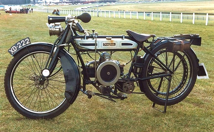 Douglas 2.3/4hp motorcycle, 1912