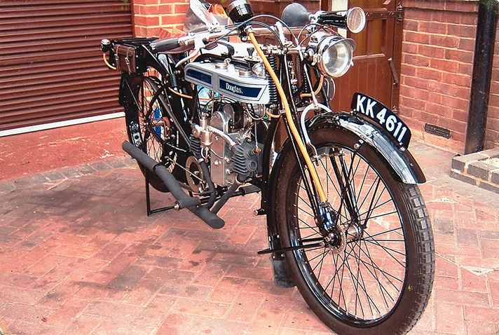 Douglas Model TS motorcycle, 1923