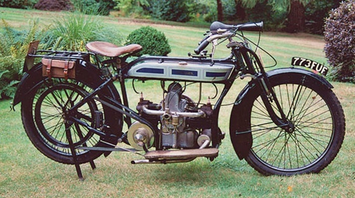 Douglas 3.1/2hp Model A motorcycle, 1914