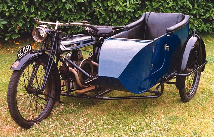 Douglas Model B motorcycle, 1920