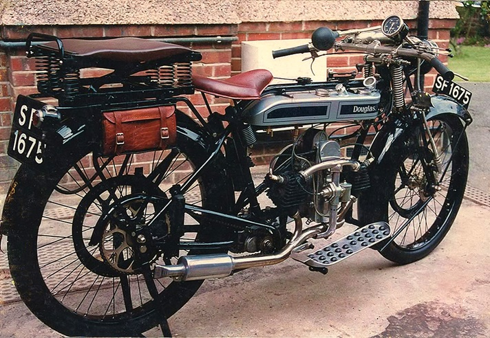 Douglas Model CW motorcycle, 1925