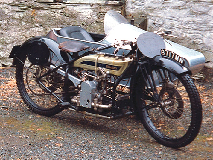 Douglas Model RA motorcycle, 1923