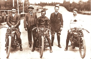 Douglas team at Brooklands 1920s