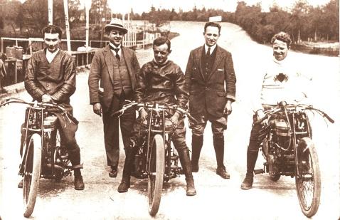 Douglas team at Brooklands 1920s