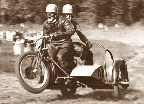 Grasstrack Racing on a Pre-war Douglas Combination