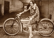 Fay Taylor, Speedway star on a Douglas
