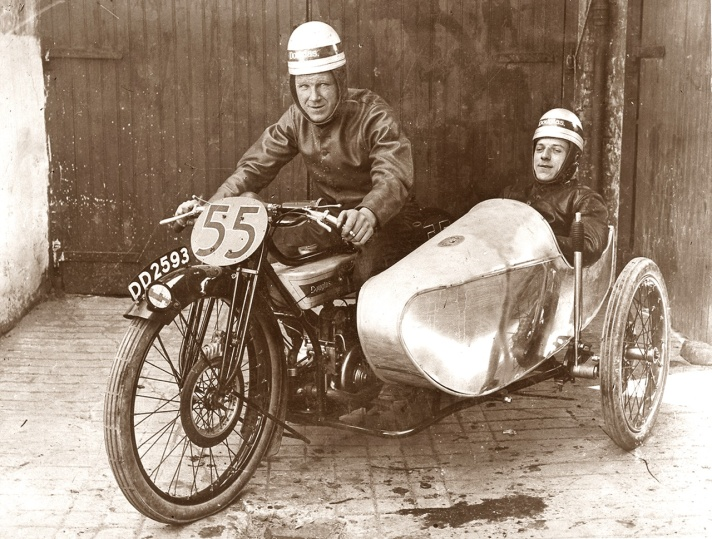 Douglas RA with banking sidecar, 1923 TT