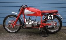 The 1950 Douglas Factory Prototype Racer ridden by Franz Pados