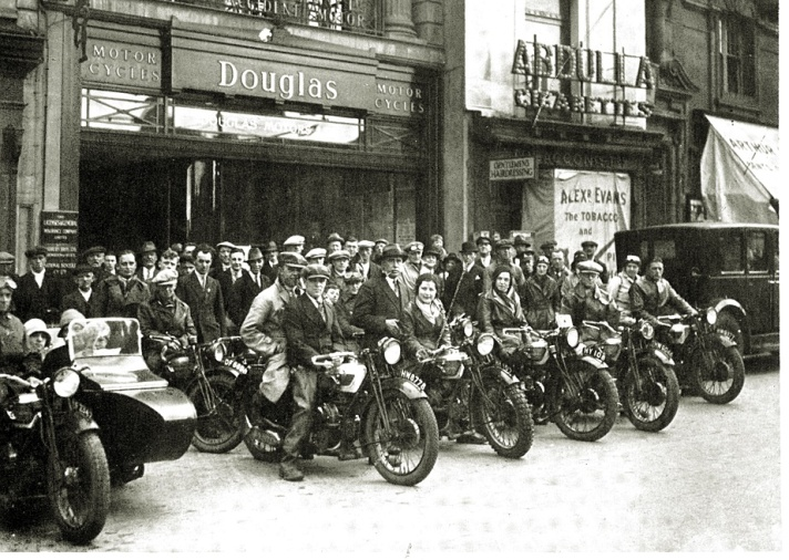 Douglas Motorcycles Bristol showroom, 1930s