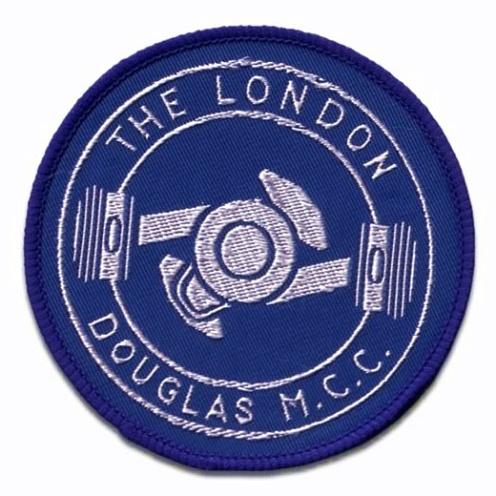 Douglas Motorcycle Club Woven Badge
