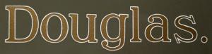 No. 12 Douglas Gold White Edge Transfer
