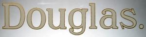 No. 13 Douglas White Gold Edge Transfer