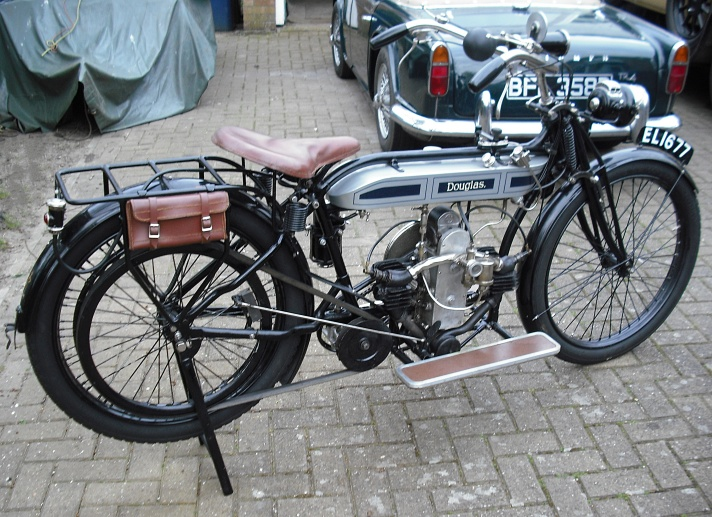 Douglas Model V Motorcycle 1916