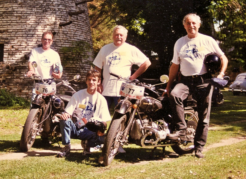 London Douglas Motorcycle Club Members in Argentina