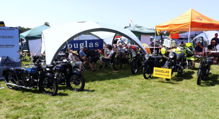 Douglas Club Stand at VMCC Founder's Day 2021